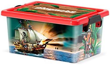 PLAYMOBIL 064701 - Caja DE ALMACENAJE DE Piratas XS, 3,5 litros EN PVC: Amazon.es: Hogar