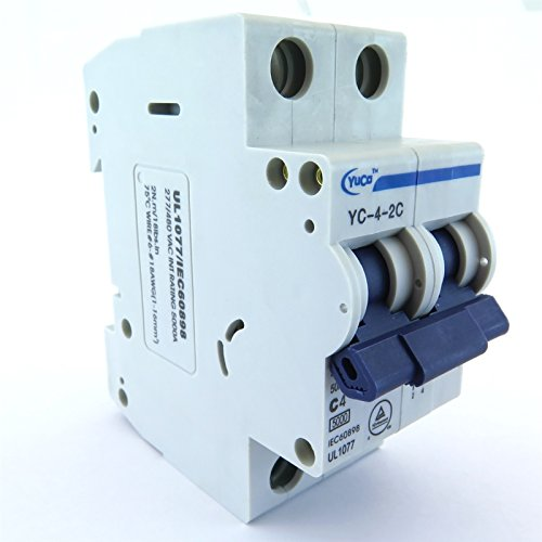 40a 2p Circuit Breaker - YC-40-2C YuCo SUPPLEMENTAL PROTECTOR DIN RAIL MINIATURE CIRCUIT BREAKER 2P 40A C CURVE 277/480V 50/60Hz TUV UL 1077 EUROPEAN DESIGN CSA C22.2