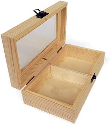 エッセンシャルオイル収納ボックス オイル手作りの木製のギフトボックスは、あなたの精油ケースプレゼンテーションの太陽の損傷を保護します (色 : Natural, サイズ : 18X10X5.5CM)