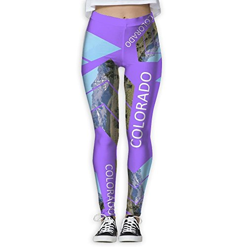 Pants Rocky Mountains Colorado Triangle Womens Legging Yoga Pant ()