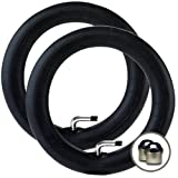 """2 x MOUNTAIN BUGGY SWIFT - Stroller/Pushchair Inner Tubes (10"""" / 10 1/2"""") + FREE Shipping + FREE Upgraded Skyscape Metal Valve Caps (Worth $4.99)"""