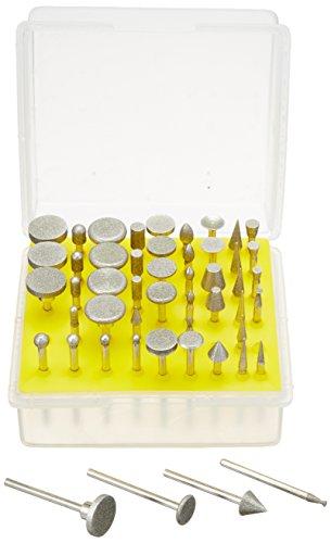 SE 8235DD12 50-Piece Diamond Burr Set, 1/8-Inch Shank, Grit 120