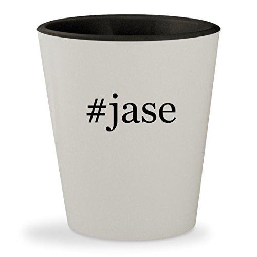 #jase - Hashtag White Outer & Black Inner Ceramic 1.5oz Shot - Sunglasses Jase