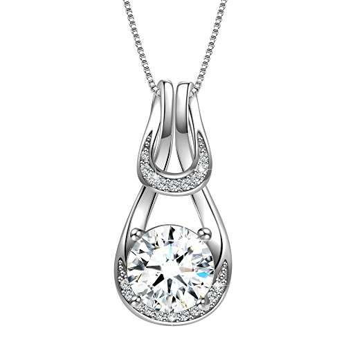 Angemiel 925 Sterling Silver 3A Round Cubic