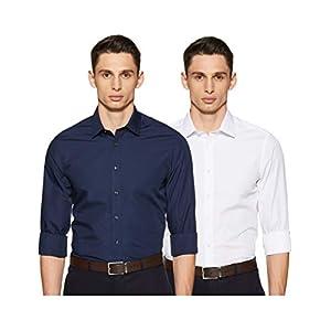 Marks & Spencer Men's Slim Fit Formal Shirt (Pack of 3)