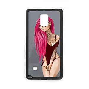 Samsung Galaxy Note 4 Case Sexy Girl Pink Black Yearinspace YS857745