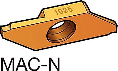 SANDVIK   Carbide  Inserts    MACR 3 100-N   Grade 1025    Pack of 5