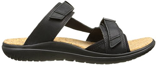 Scivolo Teva Mens Terra-float In Pelle Lux Nero