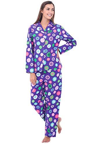 Alexander Del Rossa Womens Flannel Pajama Set, Long Cotto...