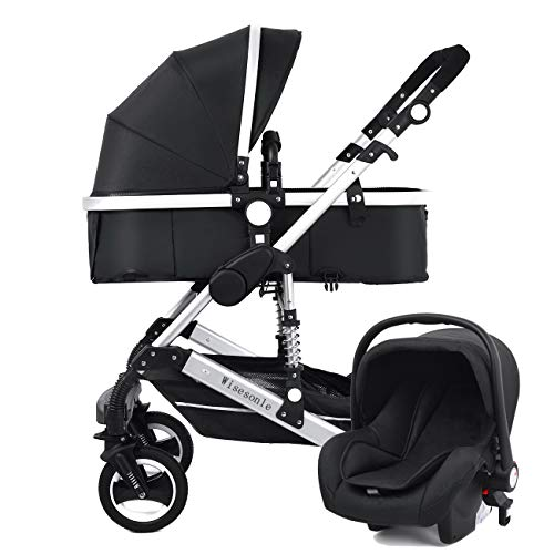 YBL City High Landscape Baby Travel System Stroller Two Way Folding Reclining