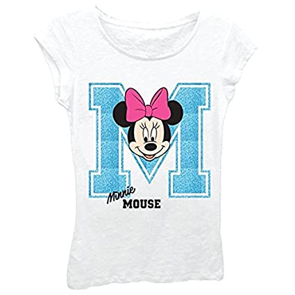 Minnie Mouse Girls T-Shirt - Cute Disney Shirts for Girls Kids
