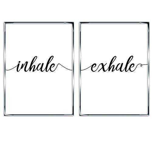 Inhale Minimalist Typography Relaxation Breathe product image
