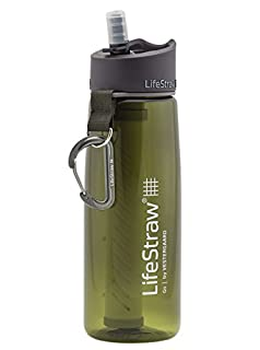 LifeStraw Go Water Filter Bottle with 2-Stage Integrated Filter Straw for Hiking, Backpacking, and Travel, Green (B01G7SQ8GS) | Amazon Products