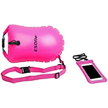 ESONE Swim Buoy - Open Water Swim Buoy Flotation Device with Dry Bag and Waterproof Cell Phone Case for Swimmers, Triathletes, and Snorkelers. Floats for Safer Swims 15L