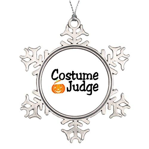MurielJerome Personalised Ornament Tree Decorated Halloween Pumpkin Halloween Costume Judge Pumpkin Snowflake Ornaments Tree Decor Gold