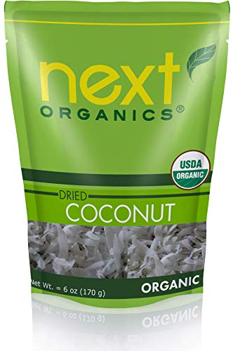 Next Organics Dried Coconut 6 Ounce (Pack of 6)