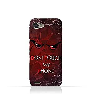 LG Q6 TPU Silicone Case With Do not Touch My Phone 3