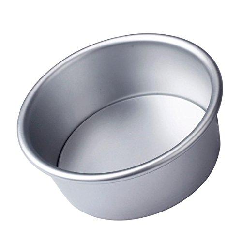 Ecosin Fashion 4/6/8'' Aluminum Alloy Non-stick Round Cake Baking Mould Pan Bakeware Tool SAP (4 inch: 11.5x4.5cm) (4 Inch Round Cake Pan)