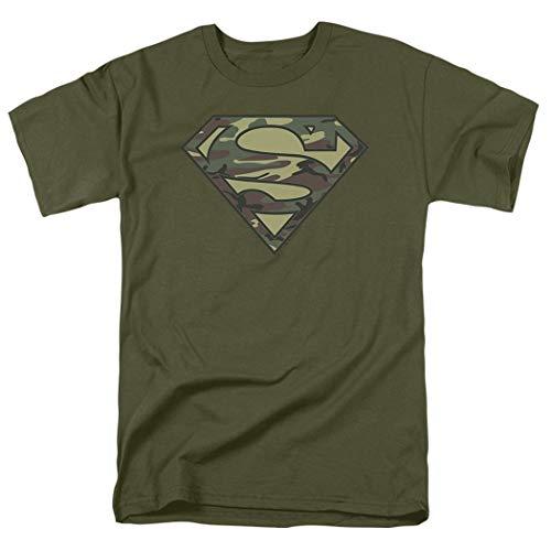 Popfunk Camo Superman Logo S Shield Green T Shirt (XX-Large)