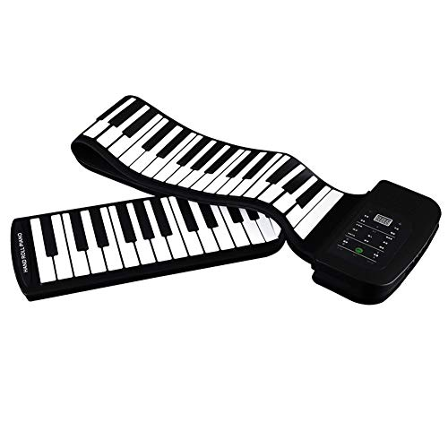 Electronic Piano, 88-Key Hand-Rolled Piano, Children's Electronic Piano, Portable Keyboard, Silicone Soft Piano