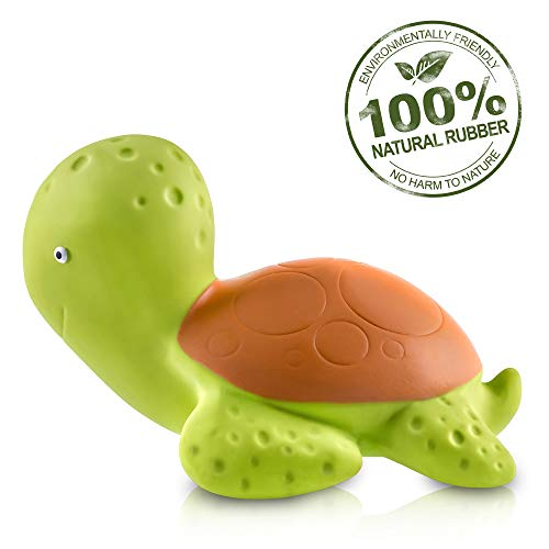 CaaOcho Ocean - Mele The Sea Turtle Natural Rubber Bath Toy - Hermetically Sealed, BPA, PVC, phthalates Free ()