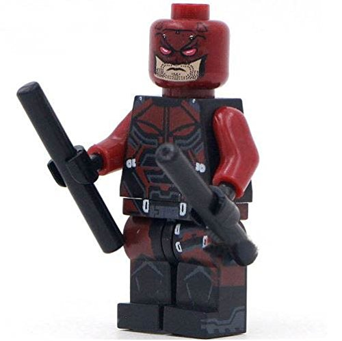 DareDevil SuperHeroes DIY Building Blocks Sword Minifigure, 4.5cm (Original Batman Suit)