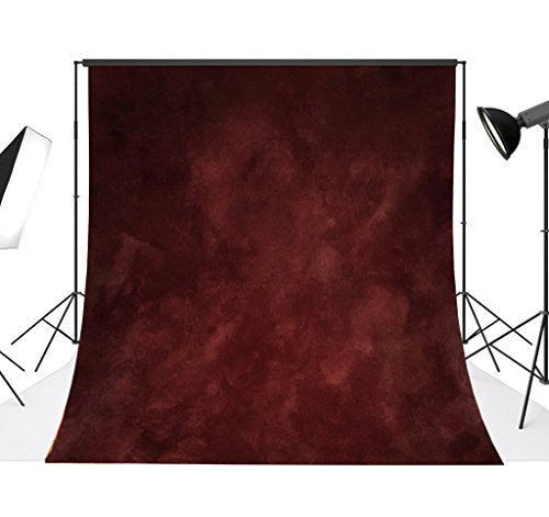 Lelinta 9.8x9.8ft Studio Props Background Abstract Cinnabar Red Photo Backdrops Photography for Birthday Party Portraits Photo Booth Backdrop