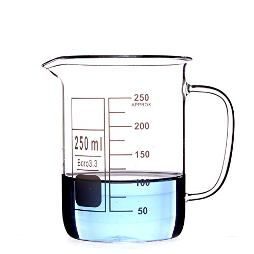 Glass Beaker Mug Cup with Handle 3.3 Borosilicate Glass Lab Glassware Clear, 8-19 Days Arrival, All Size Available in Store BIOLIFTS