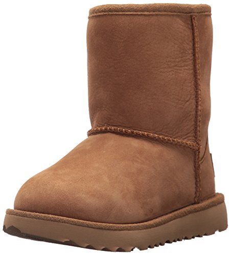 (UGG Kids T Classic Short II WP Pull-on Boot, Chestnut, 10 M US Toddler)