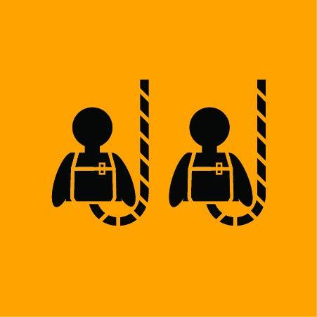 KwikSafety (Charlotte, NC) SCORPION (2 PACK) Safety Harness w/attached 6ft. Tubular Lanyard on back   OSHA ANSI Fall Protection   INTERNAL Shock Absorbing Lanyard   Construction Carpenter Scaffolding by KwikSafety (Image #1)