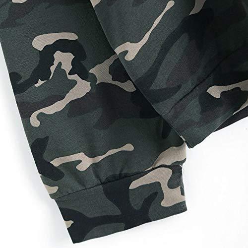 A Cappuccio xl Coulisse 20 Felpa Moletom Camouflage Top Oversize Casual Con Zjswcp Camicia Ariana Camicetta Grande Feminino Maniche Lunghe vRAqt