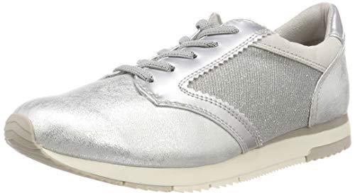 948 Femme Basses 23601 Sneakers Comb silver Argenté Tamaris 21 wFIf8