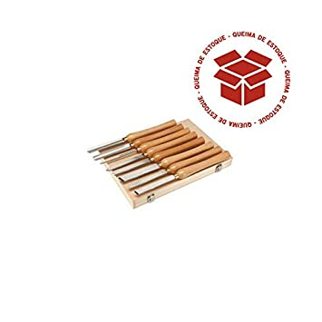 Windsor Design 8 Piece High Speed Steel Wood Lathe Chisel Set