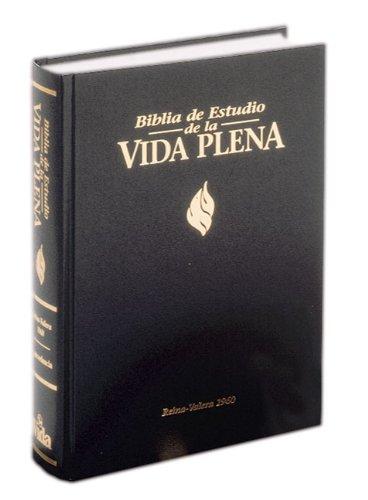 Biblia de Estudio Vida Plena, Dura, Negro, Índice by HarperCollins Christian Pub.
