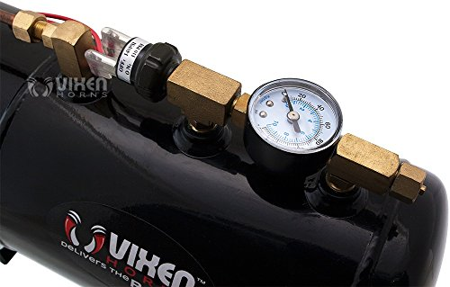 Vixen Horns Loud 135dB 3/Triple Chrome Trumpet Train Air Horn with 1 Gallon Tank and 150 PSI Compressor Full/Complete Onboard System/Kit VXO8410/3311C by Vixen Horns (Image #7)