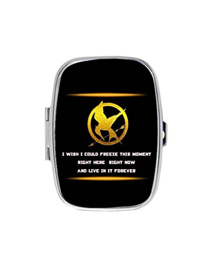 The Hunger Games DIY Rectangle Slim Stainless Steel Pill Case Box Holder Hot Gift RobinWork (Diy Hunger Games)
