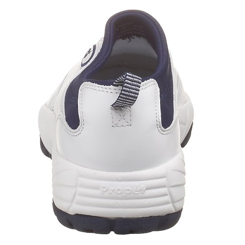 Propet Frauen W3851 Wash & Wear Slip-On Weiß / Navy