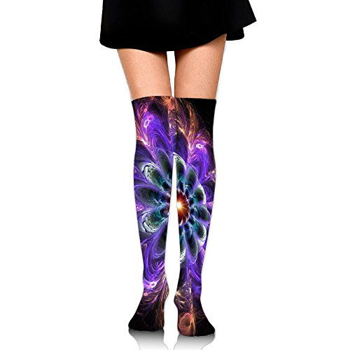 Neon Peacock Feather Women Popular Knee High Compression Socks Sports Running - Sunglasses Zumiez