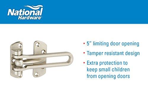 National Hardware N335 984 804 Door Security Guards In Nickel