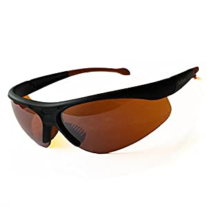 """NoBlue Blue Blocking Sunglasses Orange/Amber Tinted Lens Computer Glasses (includes """"Hack Your Sleep"""" Ebook) Blocks 99.9% of Blue and UV Rays, Prevents Eye Fatigue, Soft Temples"""