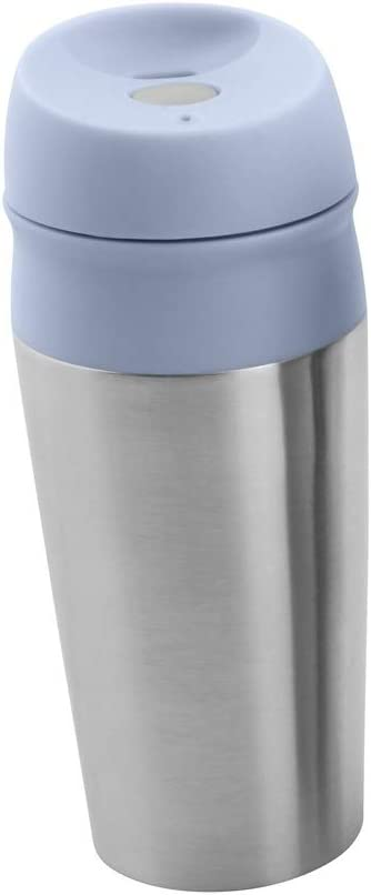 con Pulsante Push T.V.M.Shop Thermo Tazza da caff/è Coffee to Go Tazza da t/è in Acciaio Inox Thermos Riutilizzabile Verde 450 ml Silicone Plastica Acciaio Inox H/öhe: 21cm