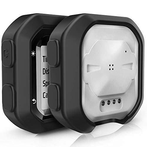 TUSITA Case for Garmin Edge 20 25 - Silicone Protective Cover - Cycling GPS Computer Accessories (Black)