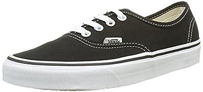 Vans Unisex Authentic Solid Canvas Skateboard Sneakers (40.5 M EU / 9.5 B(M) US Women / 8 D(M) US Men, Black)