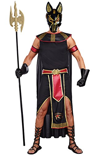 Dreamgirl Men's Anubis God Of The Underworld Costume, Black/Red, X-Large ()