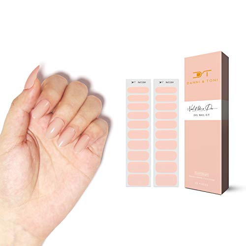 Danni&Toni 2 Sheets Semicured Gel Nail Strips Gel Nail Wraps Gel Nail Stickers Stick-on Gel Nail Art Sticker Adhesive Gel Nail Polish Strips Waterproof Gel Nail Kit
