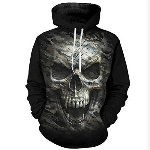Donna Felpa Top Stampa Hop Hpenyyosy Pullover Con 3d Hipster Streetwear 04 Uomo Skull Hip Cappuccio Gatto JK1clTF