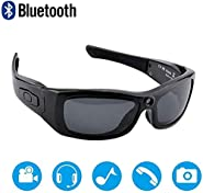 DSAEFG Bluetooth Sunglasses Camera Full HD 1080P Video Recorder Camera with UV Protection Polarized Lens, Great Gift for You