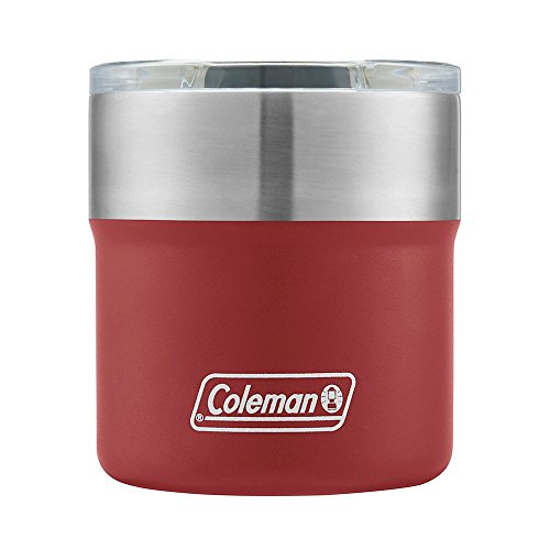 Coleman Heritage Red Sundowner Insulated Stainless Steel Rocks Glass, 13oz by Coleman