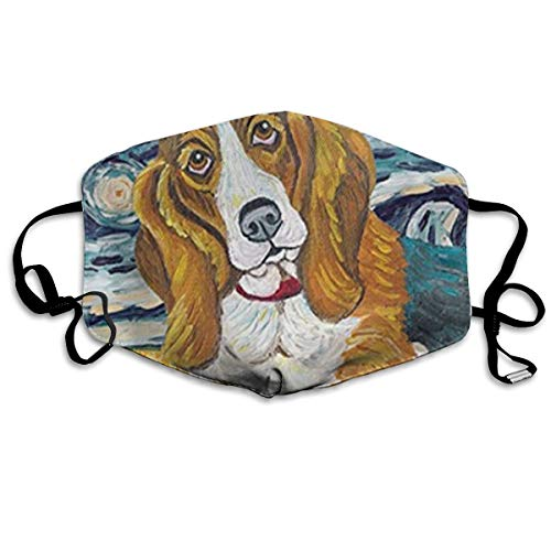 olor Baguette Hound Adult Fashion Mouth-Masks Washable Safety 100% Polyester Comfortable Breathable Health Anti-Dust Half Face Masks ()