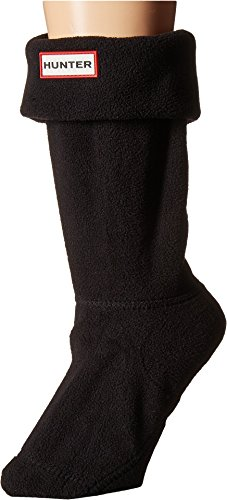 Hunter Women's Short Boot Socks Black Medium (Womans Boot Liners)